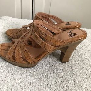 Sofft Leather Cork look Sandals